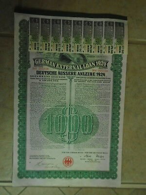 Usa Printed German Wwii Nazi War Bond - 1924