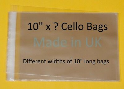 "10"" x ? Cellophane Display Bag - Different Lengths Available"