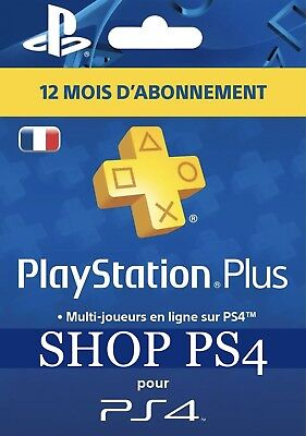 Playstation Plus 12 Mois/12 Months/12 Meses (LIRE DESCRIPTION/READ DESCRIPTION)