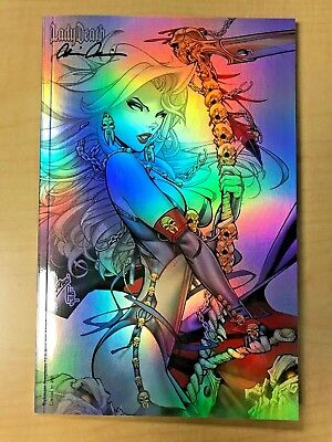 LADY DEATH Nightmare Symphony #1 Holo Foil Variant Cover by Paul Green Signed