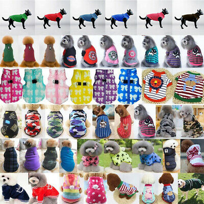 Chihuahua Teddy Dog Puppy Small Pets Jumpsuit Sweater Coat Clothes Vest New