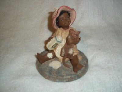 "1988 Martha Holcombe - All God's Children ""Kezia"" With Cat  #29 Figurine"
