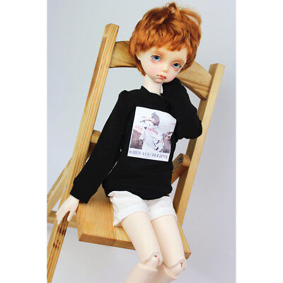 "Black Fashion boy//girl doll pants straight trousers for 1//4 17/"" BJD doll"