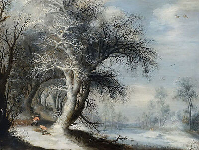 """stunning oil painting 100% handpainted on canvas """"Winter Landscape"""""""