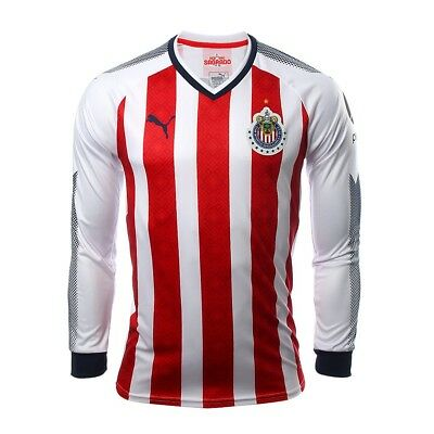 quality design dff68 ad4f3 CHIVAS GUADALAJARA PUMA Long Sleeve Jersey 2017-2018 Home FREE 2-3 DAY