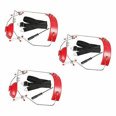 RED 3PC Dental Orthodontic Adjustable Reverse-Pull Headgear Universal Instrument