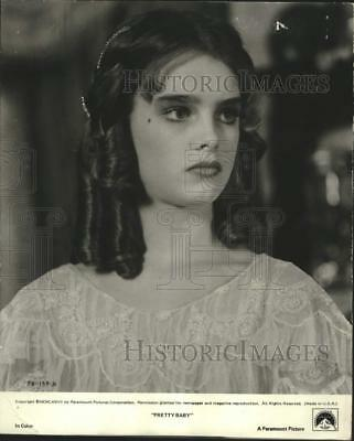 "1978 Press Photo Young actress Brooke Shields stars in ""Pretty Baby"" - lrx14080"