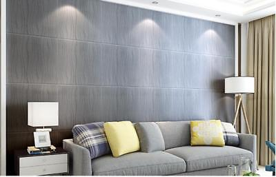 Wave Lines 3D Flocking Embossed Textured Wallpaper Roll Non-woven Wall Paper
