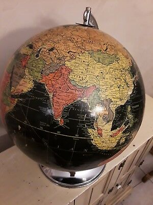 "Replogle 12"" Black, lighted Globe. Excellent condition."