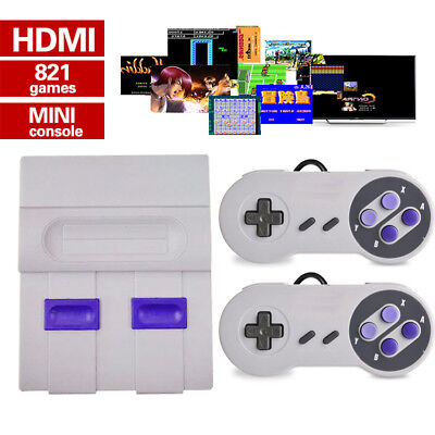 SNES Classic Mini Edition Super Nintendo Console 821 Games Entertainment System
