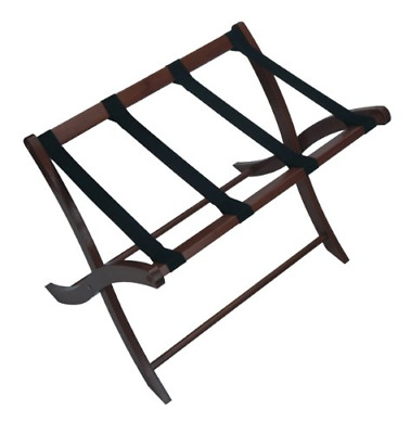 Wood Luggage Rack Folding Hotel motel Suitcase Storage Stand Holder Espresso