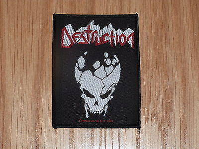 Destruction - Skull Logo (New) Sew On Patch Official Band Merchandise