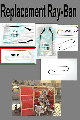 Ray Ban Replacement sidearm  arms Temples Aste Aviator 3025 3026  3030 3138 ç