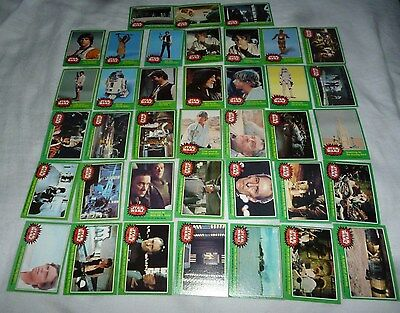 Star Wars Green 4Th Series Original 1977 Movie Trading 38 Cards