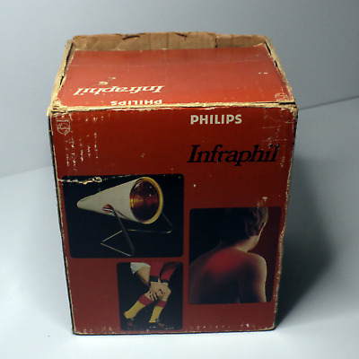 Vintage Electric Heat Lamp Philips Infraphil Infrared Light *working*