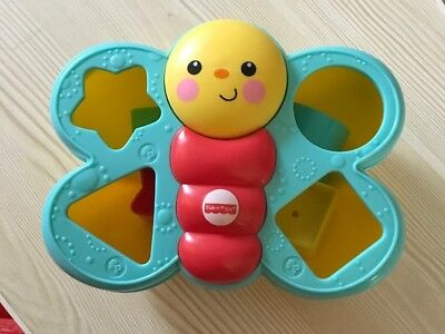Baby's Fisher Price Butterfly Shape Sorter, Comes With 6 Shapes Used!!