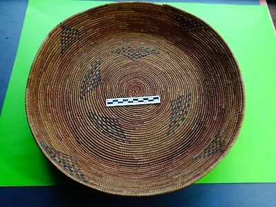 Antique Apache Sweetgrass Winnowing Basket ; From a private collection -Nice!