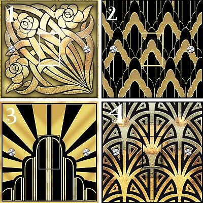 Latest Art Deco Style Light Switch Stickers (UK)