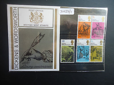 Great Britain Presentation Pack 1970 Dickens MNH (71023/1)