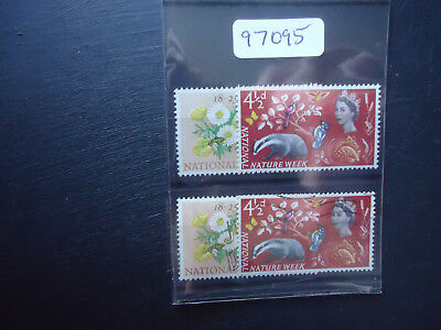 GB 1963 QE2 Nature Ord (2x Sets) (SG 637-638) Mounted Mint & Used (97095)