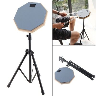 8 Inch Rubber Wooden Dumb Drum Practice Training Drum Pad with Stand Kids Gifts