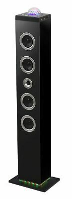 BIGBEN Sound Tower TW10, schwarz, LED Disco Light, Bluetooth Lautsprecher, USB