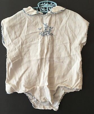 Vintage Tagged Gimbel Brothers Made In Paris Toddler One Piece Romper With Ship