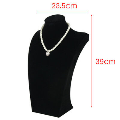 Necklace Pendant Jewelry Display Bust Mannequin Stand Holder Rack 39*24cm