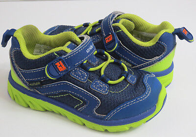 2c4beafed97c50 Stride Rite M2P Shoes Toddler Boys Size 7M Baby Jake Blue Green Tennis Shoes