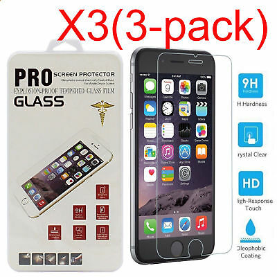 3 PCS Tempered Glass Film Protector Screen For Apple IPhone 6 6S 7 7 Plus SE 5S