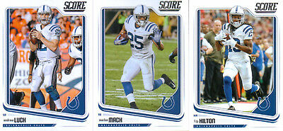 2018 Score Indianapolis Colts Team Set ( 13 Cards )