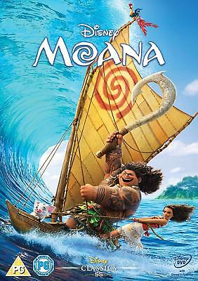 Moana DVD 2016. Free delivery. Used DVD
