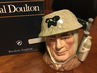 """The Soldier"" Royal Doulton Character Toby Mug Jug-D6876 4.5 inches tall SIGNED"