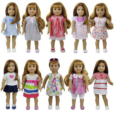 8Sets Clothes Dress Princess Skirt Costume For America 16-18 inch Girl Doll Gift