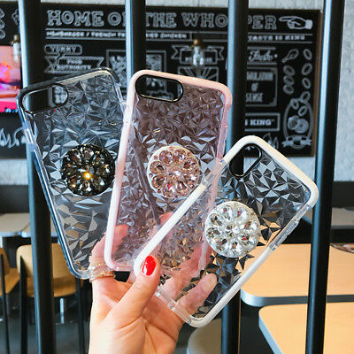 Luxury Bling Diamond Stand Case For iPhone 7 8 Plus Xs Max XR WITH POP Up Holder