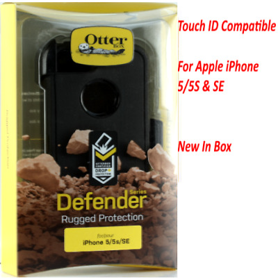 New OtterBox Defender Series Case for iPhone SE iPhone 5s iPhone 5 Black