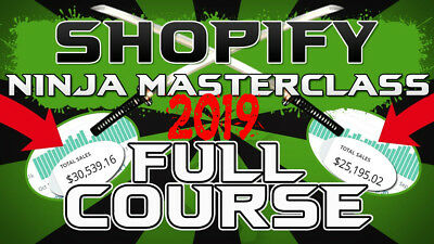 Kevin David 2019 - Shopify Dropshipping Ninja Masterclass + 3 Bonus + Worth $997