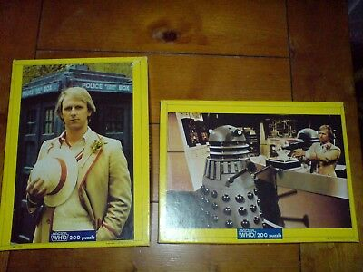 Two Collectable 1982 Doctor Who Waddingtons Jigsaw Puzzles Peter Davison