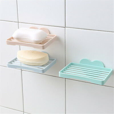 Heart Shape Sucker Soap Dish Wall-Mounted Drain Suction Cup Soap Shelf Holder DS