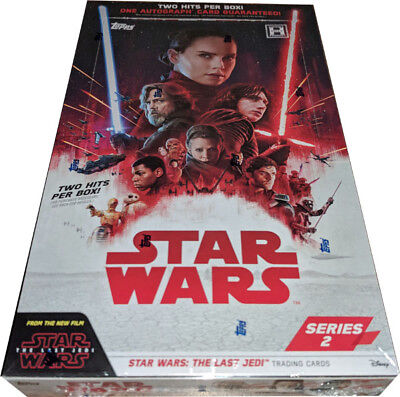 Topps 2018 Star Wars Last Jedi Series 2 Factory Sealed Trading Card Hobby Box