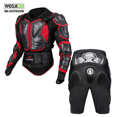 Motorcycle Protective Gear Hard Armour Jacket Shorts Chest Hip Motorbike Guard