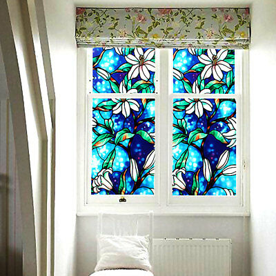 2mtr BEAUTIFUL STAINED GLASS WINDOW STICKY BACK PLASTIC SELF ADHESIVE VINYL FILM