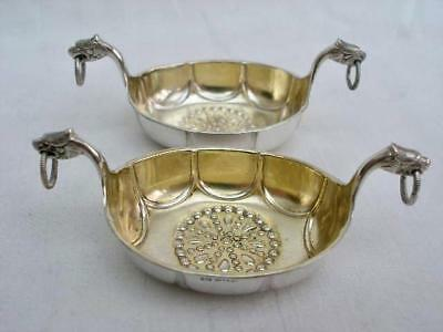 Superb Pair of Hallmarked Norwegian Solid Silver Salts By David Anderson.