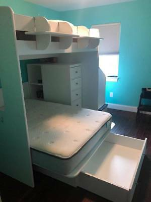 Used Berg Furniture Twin Sleep And Study Loft Beds 500 00 Picclick