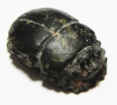 Zurqieh -As10293- Ancient Egypt, Glass Scarab . 600 - 300 B.c
