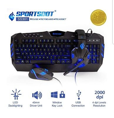 Sportsbot Headset, Keyboard and Mouse.