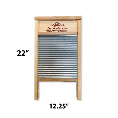 Hand wash wooden stainless steel corrugated wash board - Antique vintage look!