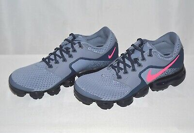 c3f6afe262c50 NIKE AIR VAPORMAX GS Running Shoes Atmosphere Grey Pink Youth SZ New ...