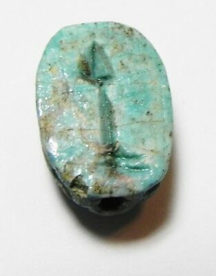 Zurqieh -As10303- Ancient Egypt, Glazed Stone Scarab . New Kingdom. 1300 B.c
