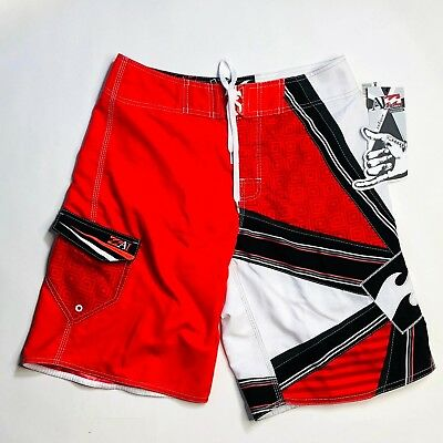 98c35e28f0 NEW Billabong Andy Irons Shogun Rising Sun Signature Board Surf Shorts 32  Red